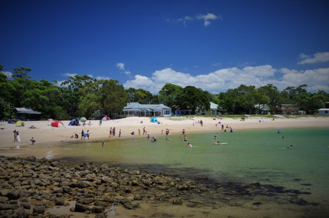 Horderns Beach from the ferry landing.